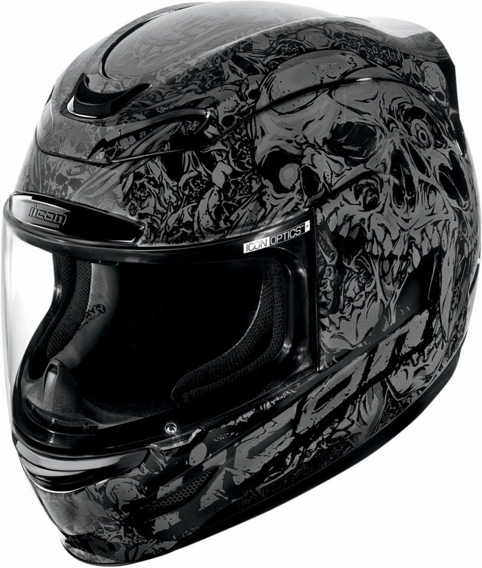 Casco integrale Icon Airmada Parahuman Nero