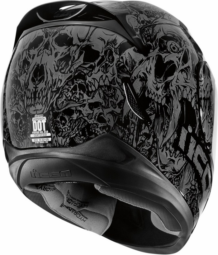 Full Face Helmet Icon Airmada Parahuman Black