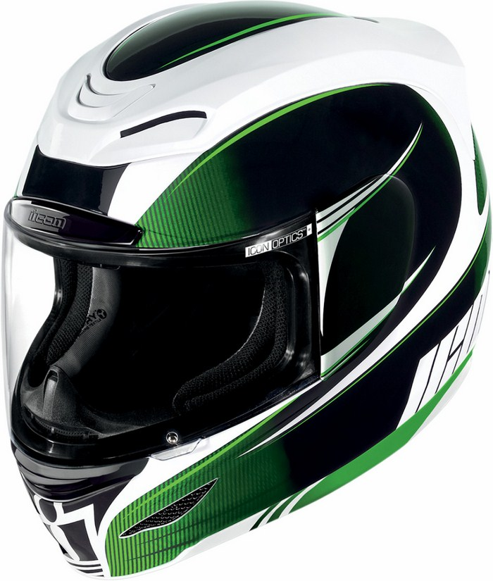 Full Face Helmet Icon Airmada Salient Green