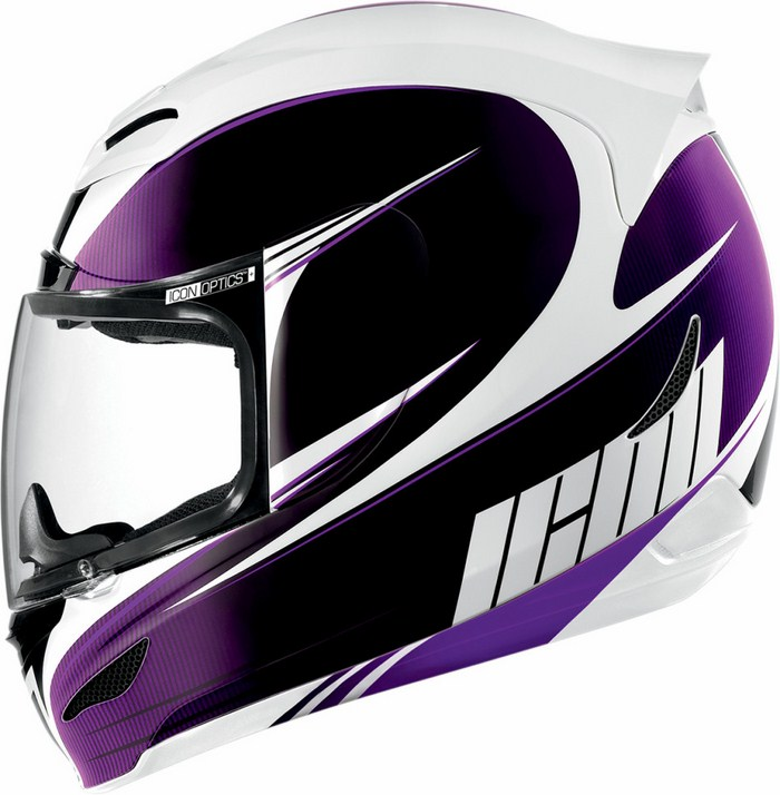 Full Face Helmet Icon Airmada Salient Purple