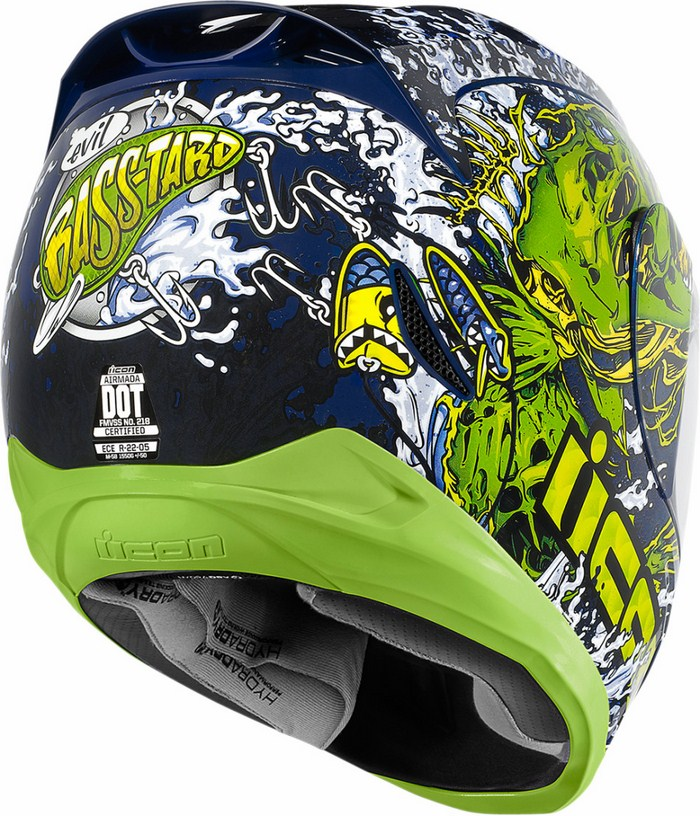 Casco integrale Icon Airmada Basstard Verde