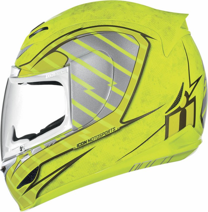 Full Face Helmet Icon Airmada Volare Neon Yellow