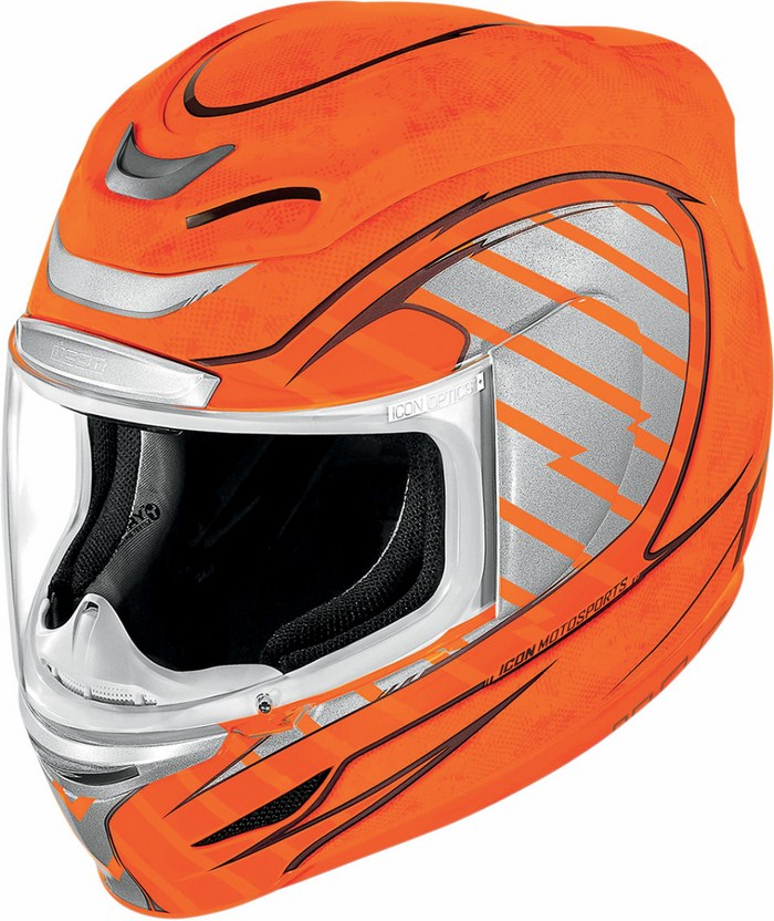 Full Face Helmet Icon Airmada Volare Orange fluo