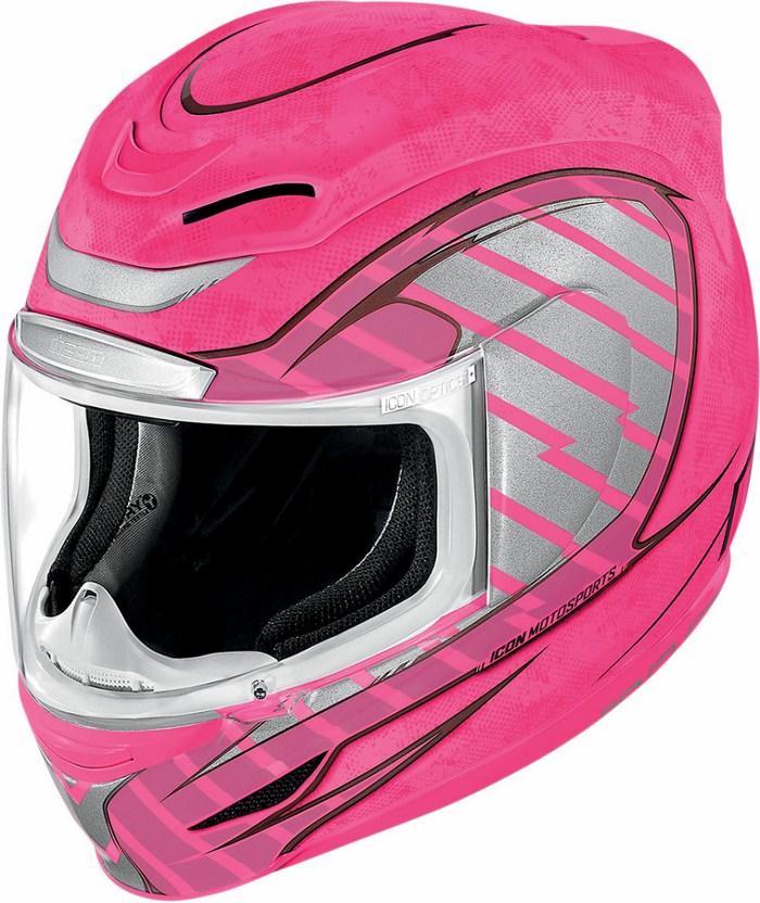 Full Face Helmet Icon Airmada Volare Pink Neon