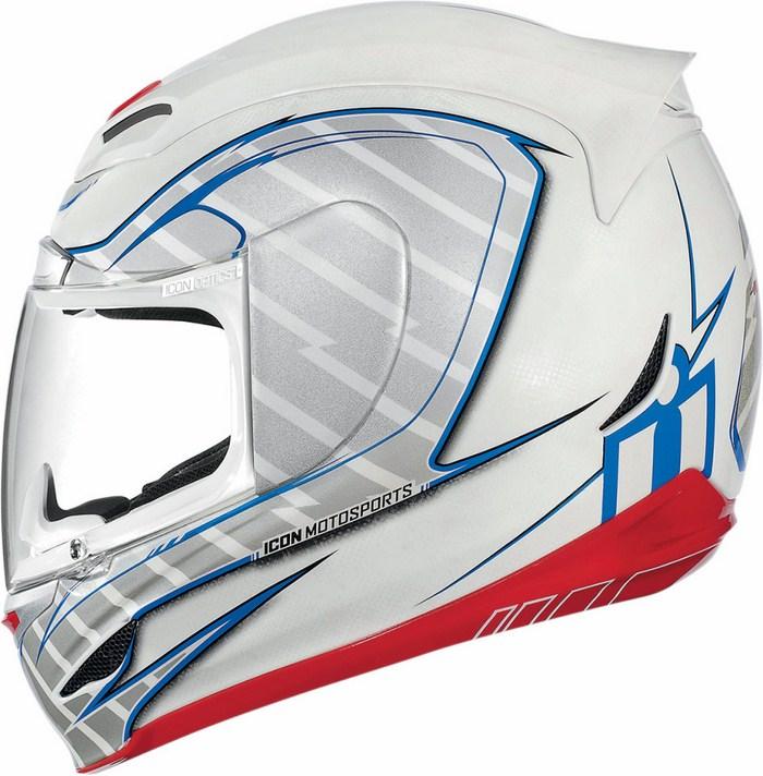 Full Face Helmet Icon Airmada Volare White