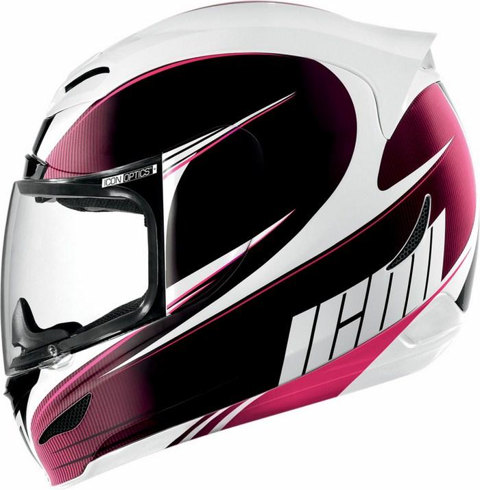 Full Face Helmet Icon Airmada Salient Rosa
