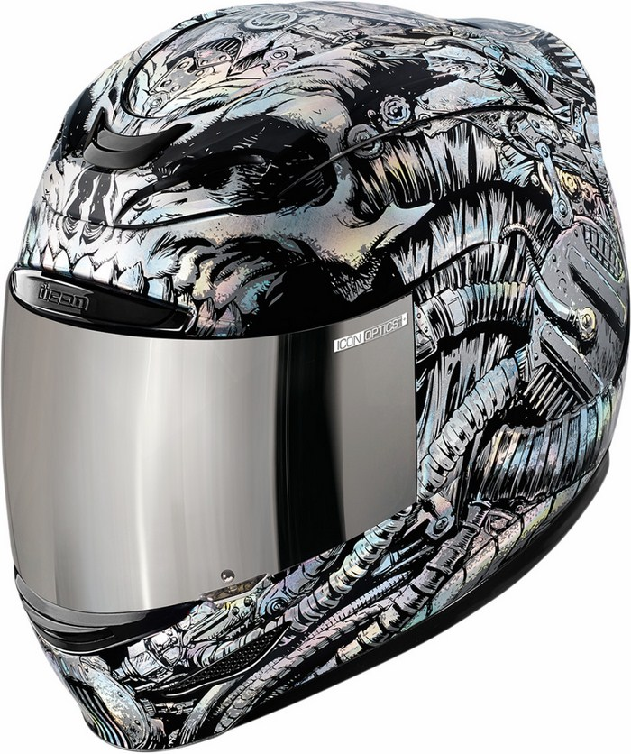 Casco integrale Icon Airmada Bioskull Nero
