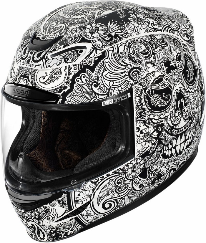 Full Face Helmet Icon Airmada Chantilly White