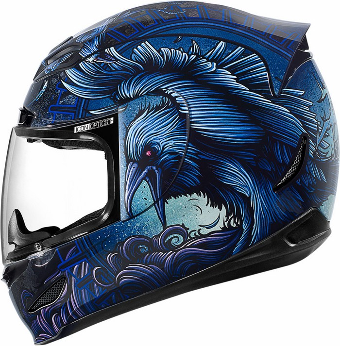 Full Face Helmet Blue Icon Airmada Ravenous