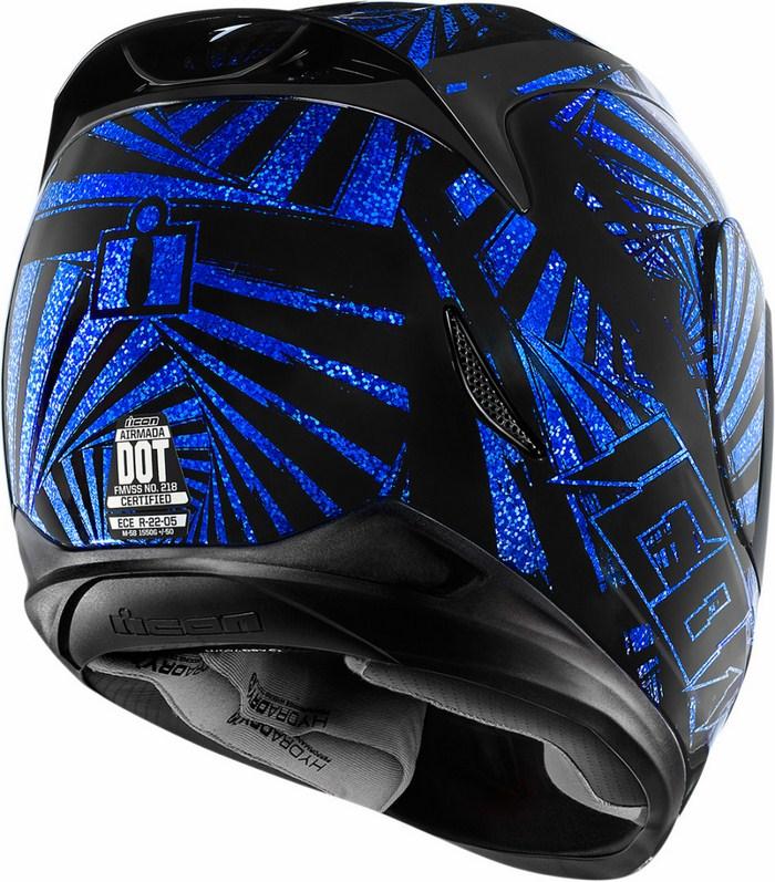 Full Face Helmet Blue Icon Airmada Spaztyk