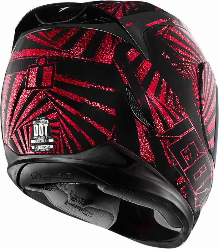 Full Face Helmet Red Icon Airmada Spaztyk