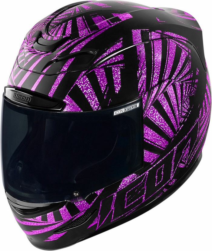 Full Face Helmet Icon Airmada Spaztyk Purple