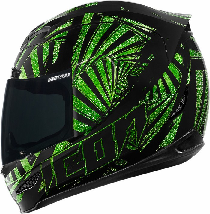 Full Face Helmet Icon Airmada Spaztyk Green