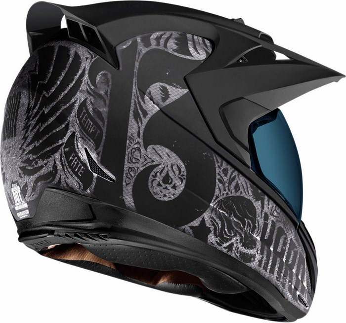 Casco integrale Icon Variant Construct Hard Luck Nero