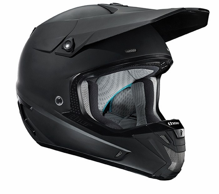 Casco Cross Thor Verge Solids nero opaco