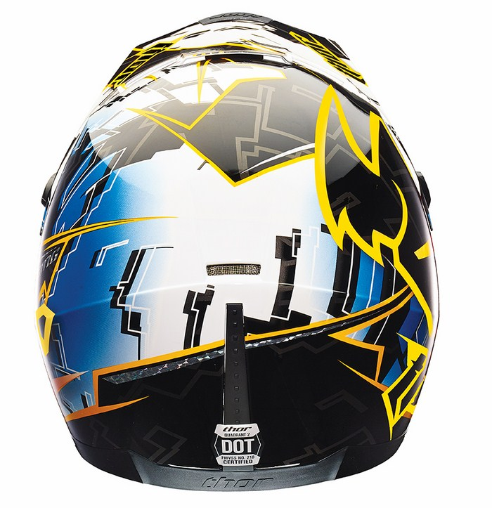 Thor Quadrant Fragment cross helmet blue-yellow black
