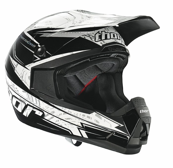 Thor Quadrant Stripe enduro helmet black