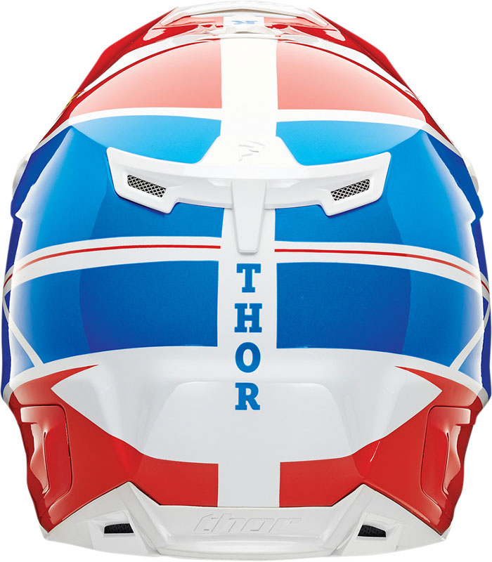 Thor Verge Pro GP cross helmet Blue Red