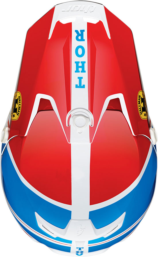 Casco cross Thor Verge Pro GP Blu Rosso