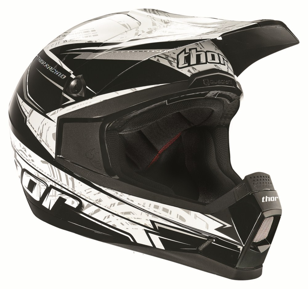 Thor Youth Quadrant Stripe helmet black