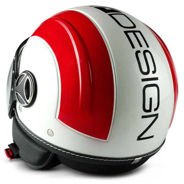 Avio Momo Design Jet Helmet Glossy White Red