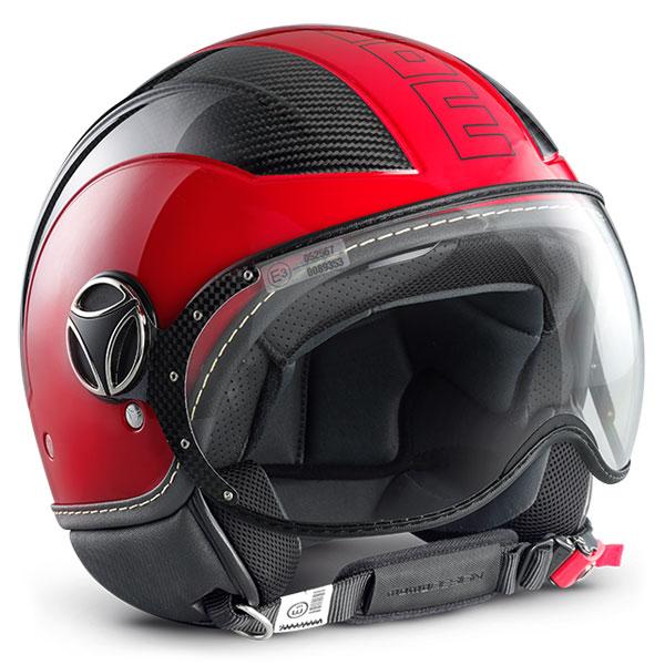 Avio Momo Design Jet Helmet Glossy Red Carbon