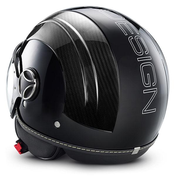 Jet Helmet Momo Design Avio Black Glossy Carbon