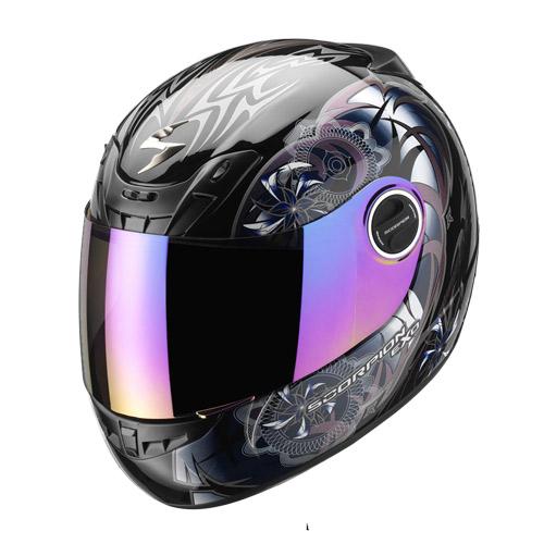 Casco integrale Scorpion Exo 400 Spectral Nero Camaleonte