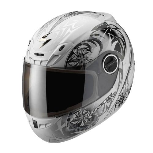 Casco integrale Scorpion Exo 400 Spectral Bianco Camaleonte