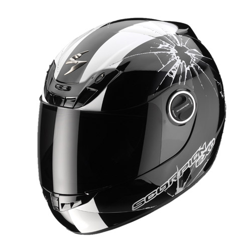 Scorpion Exo 400 Impact full face helmet Black White