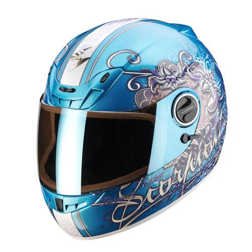 Scorpion Exo 400 Ann full face helmet Sky Blue