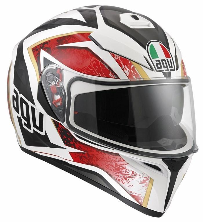 Agv Street Road K-3 SV Multi Vulcan helmet white black red