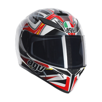 Agv K-3 SV rav full face helmet Black White Red