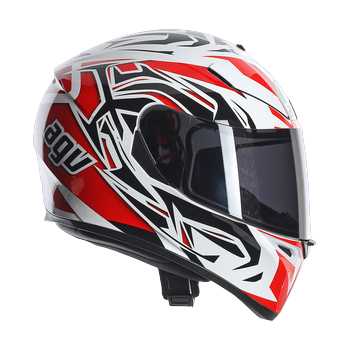 Agv K-3 SV rookie full face helmet white gunmetal red