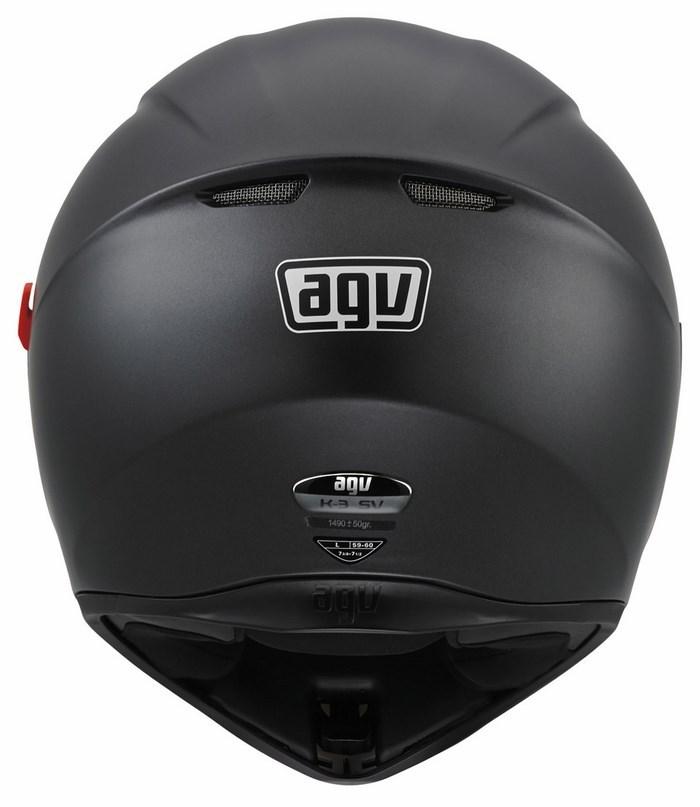 Casco moto Agv K-3 SV Mono nero opaco