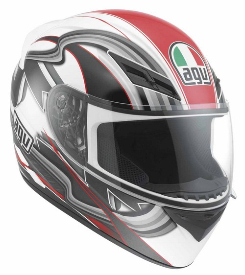 Agv K-3 Multi Chicane full-face helmet white-red