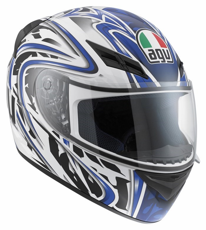 Agv Street Road K-3 Multi Wire helmet white blue