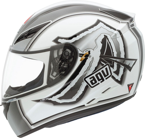 Casco moto Agv K-3 Multi Katana bianco-gunmetal