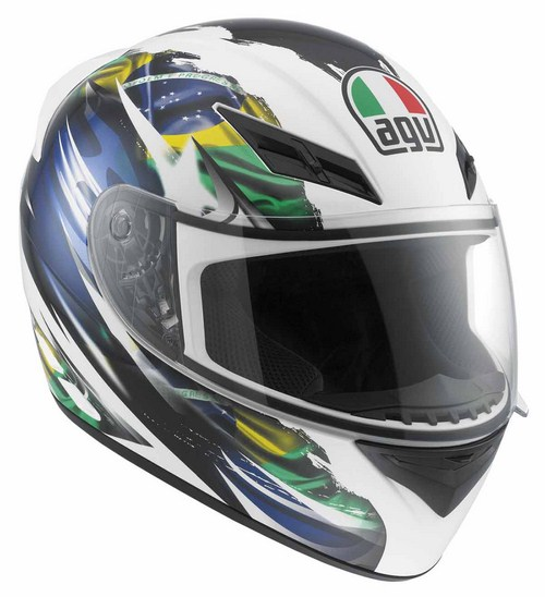 Agv K-3 Multi Brasil Flag full-face helmet