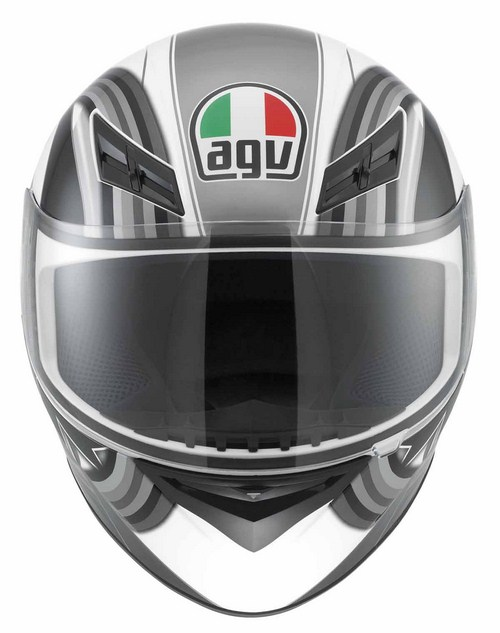 Agv K-3 Multi Chicane full-face helmet white-gunmetal