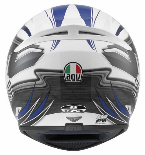 Agv K-3 Multi Chicane full-face helmet white blue