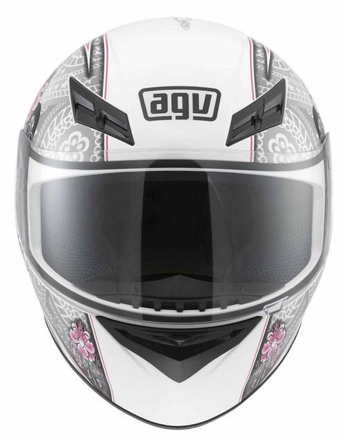 Agv K-3 Multi Crew full-face helmet white-silver-pink
