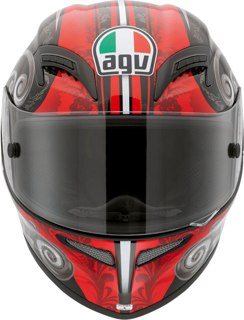 Agv Grid Multi Stigma full-face helmet black-red