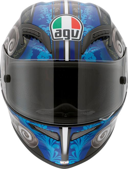 Casco moto Agv Grid Multi Stigma nero-blu