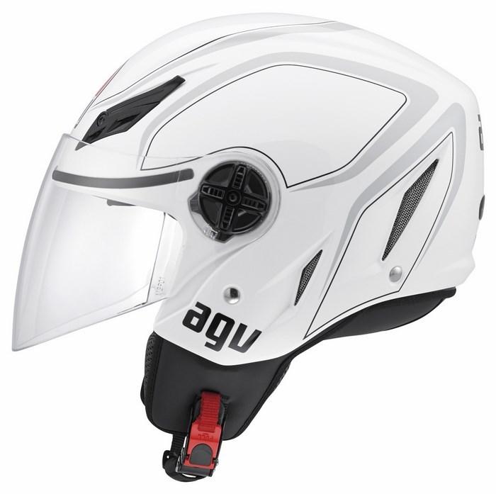 Casco moto Agv Blade Multi Tab bianco grigio