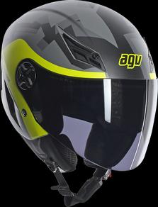 Casco moto Agv Blade Multi Camodaz Grigio opaco Giallo fluo