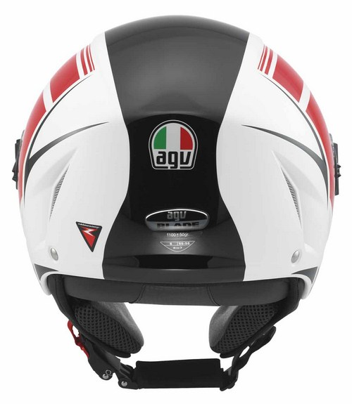 Agv Blade multi FX jet helmet white-red