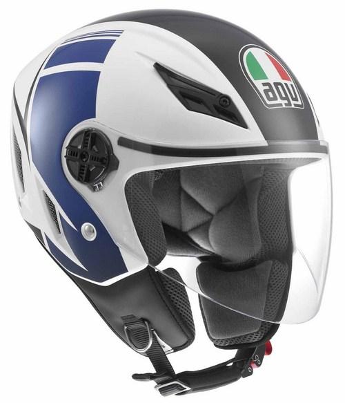 Casco moto Agv Blade Multi FX bianco-blu