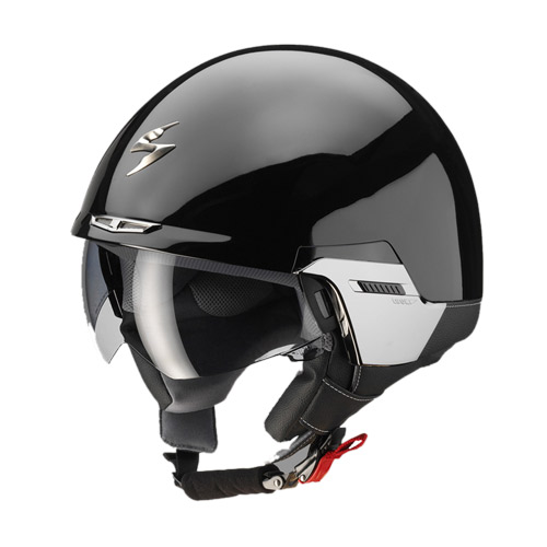 Scorpion Exo 100 Padova jet helmet Black