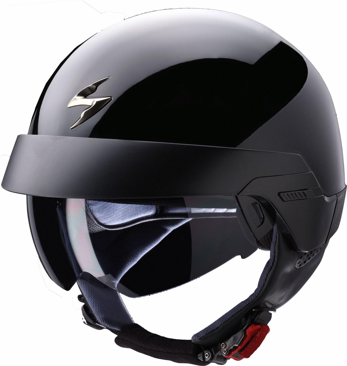 Casco jet Scorpion Exo 100 nero lucido